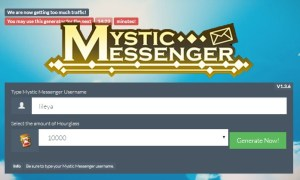 Mystic Messenger Unlimited Hourglasses Cheats for Calling Cards on